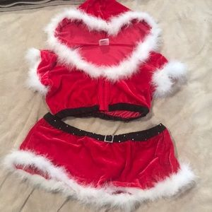 Frederick's of Hollywood Santa skirt set